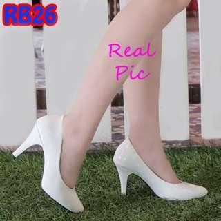 Sepatu Kantor Polos Glossy 9cm Pantofel (RB26)