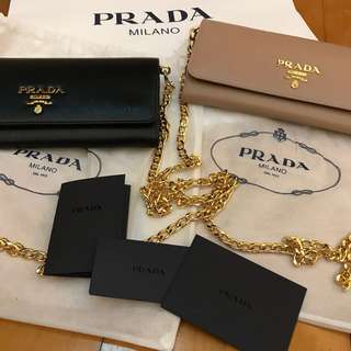 (75折 25% off) Prada Chain Wallet (brand new)
