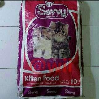Makanan kucing savvy 500g