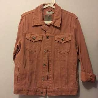Topman pink jean jacket