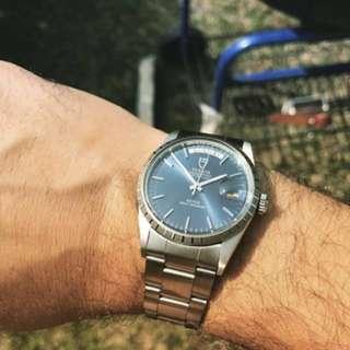 LF: Tudor Date Day Blue / Black Dial Ref. 94614