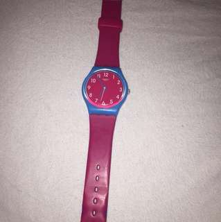 SWATCH watch pink and blue
