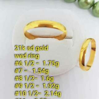 21K wedding ring