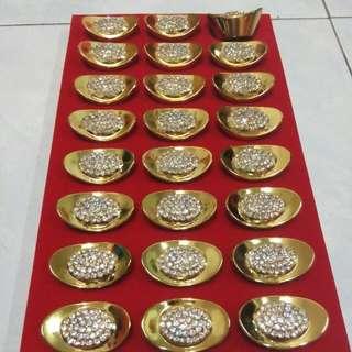 24颗 18k镀金中型💎金元宝