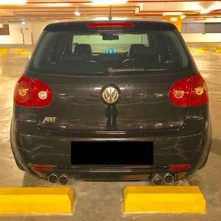 VW mk5 Golf ABT Sportline Quad Exhaust