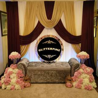 Wedding dais,  mini pelamin,  engagement backdrop,  bangle ceremony  henna night decor