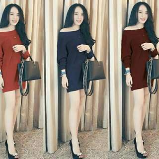 Mini dress rajut MNM dress rajut sabrina dress sabrina rajut knit dres
