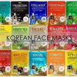 Ekel Korean Face Masks