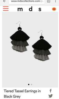 MDS Tassel earrings
