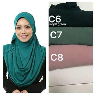 Instant 2 Muka Moscrepe Tudung hijab shawl