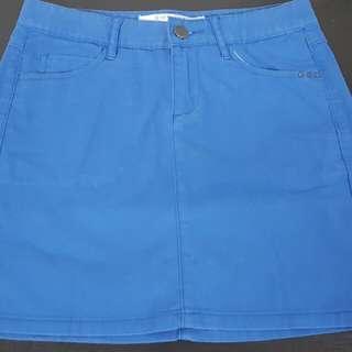 giordano blue skirt