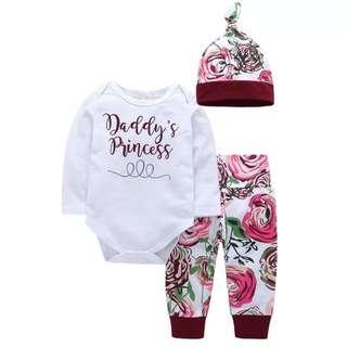 BabyBitbit |Baby 100% Cotton T-shirt + Pants + Cap|B6TF17