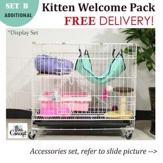 FREE DELIVERY Set B - KITTEN / CAT 2 TIERS CAGE (Additional)