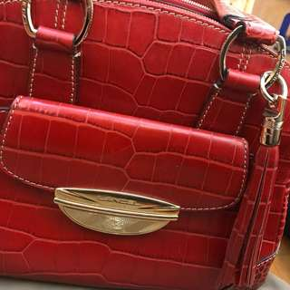 99% new Lancel Adjani handbag (red)
