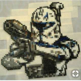 Star wars Captain Rex Hama Designs