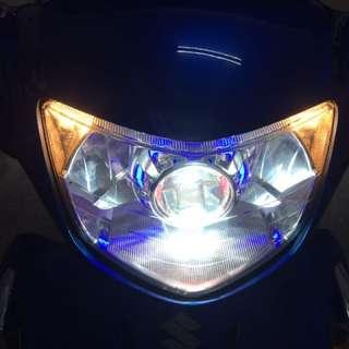 Address 整套魚眼燈具含光圈 線組 hid 3500