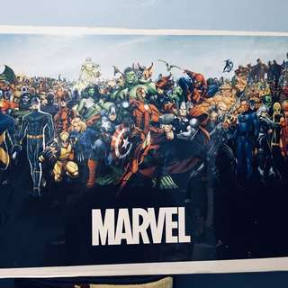 LIMITED EDITION: POSTER MARVEL HEROES & VILLAINS