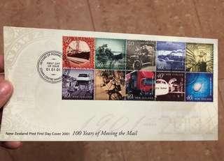 紐西蘭首日封 New Zealand Post First Day Cover 2001