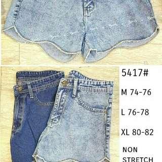 Celana hotpants wanita import 5417 hp scallop hot pants jeans polos