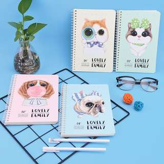 Lovely Family Spiral Ruled Notebook A5