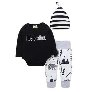 BabyBitbit |Baby 100% Cotton T-shirt + Pants + Cap|B6TF24