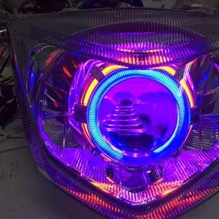 🚚 Z1 整套魚眼燈具含光圈 線組 hid 3500