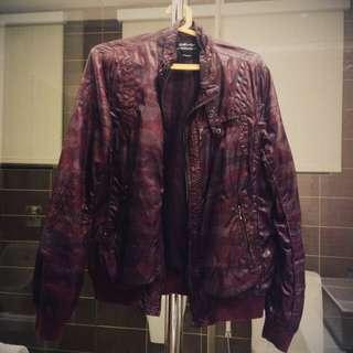 Celio Purple Camo Bomber Jacket MEDIUM