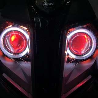 Jets 2.5吋 led hid整套魚眼燈具含光圈 線組 hid 15000