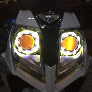Jets 透明修羅 3光圈 led 魚眼 整套魚眼燈具含光圈 線組 15000