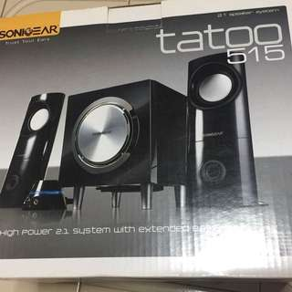 Sound Base System (High Power 2.1 System with extended bass) Tatoo 515