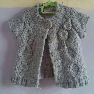 Grey Knit Cardigan/Bolero