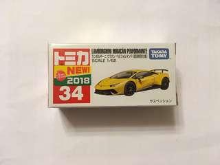 Tomica #34 Lamborghini Huracan Performante (初回特別仕樣) 林寶堅尼 黃牛 日版