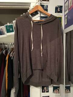 Grey/ army green longsleeve sweatshirt
