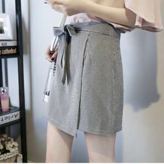 PO: Assymetric Overlap Origami front tie skirt