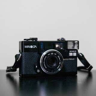 Minolta Hi-Matic AF2 with strap