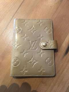 AUTH Louis Vuitton Small Ring Agenda Cover