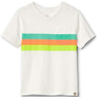 GAP BOY TODDLER STRIPES VNECK