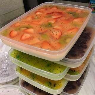 椰汁鮮果/紅豆大菜糕(無色素零添加人手製)
