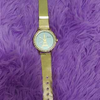 Gold Eiffel Crystal Watch