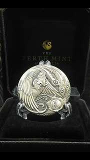 鳳凰高浮雕仿古銀幣,仿古銀幣,高浮雕銀幣,銀幣,收藏錢幣,錢幣,紀念幣,幣,silver coin,silver~鳳凰高浮雕仿古銀幣(全球只有一千枚,9999純銀打造,全新二盎司)(The silver coin 2oz)