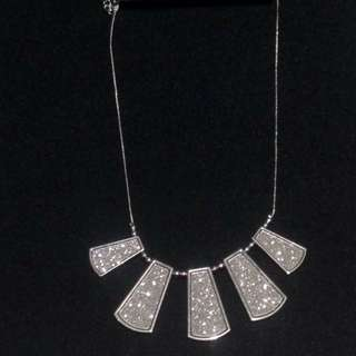 Silver Dress Necklace - Brand New