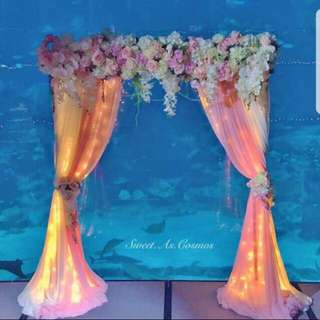 Backdrop stand / background deco for rent