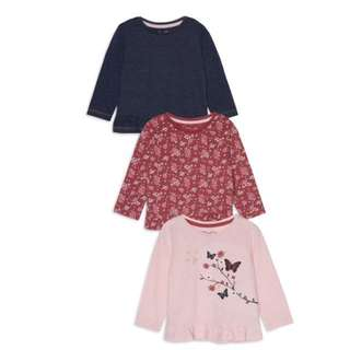 PRIMARK BABY GIRL 3 PIECES LONG SLEEVE