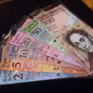 >World banknotes Venezuela(sets) for sale..