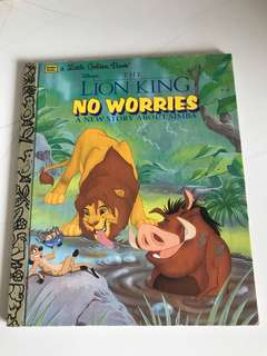 The Lion King - No Worries - A New Story About Simba - Little Golden Book