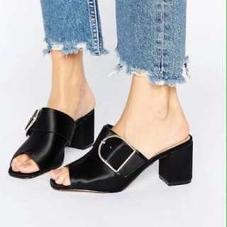 As New Worn Twice River Island Mules