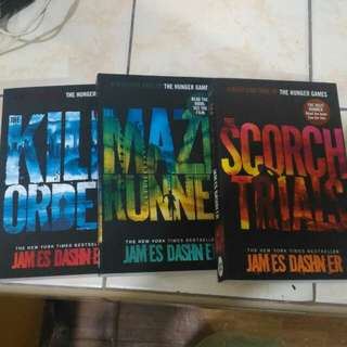 Maze Runner Books (sold as set)