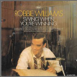 MY CD - ROBBIE WILLIAM- SWING WHEN YOU'RE WINNING //FREE DELIVERY BY SINGPOST(W6D)