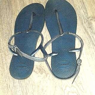 (Original) blue havaianas slippers