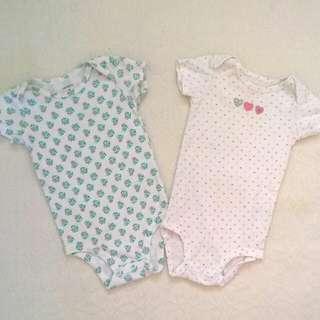 2 Pcs Onesies For Baby Girl